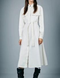 Fashion White Shirt Dress