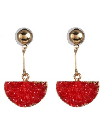 Fashion Red Water Drop Earrings
