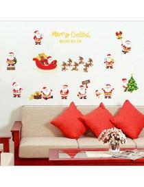 Adhesivo De Navidad Efecto Dorado