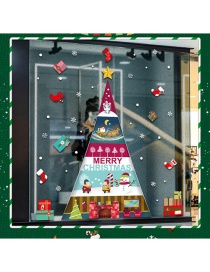 Fashion Color Christmas Tree Double Wall Sticker