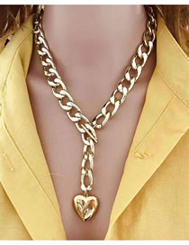 Fashion Gold Heart Shape Can Be Opened