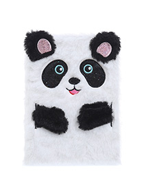 Fashion Panda Cartoon Plush Rabbit Ears Notepad