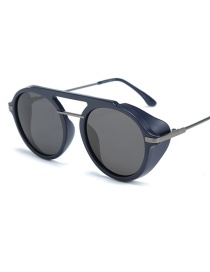 Fashion Blue Frame Full Gray Tac1.5 Lens Sunglasses