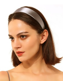 Fashion Gray Satin Headband