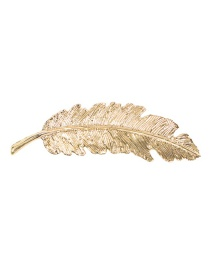Fashion Gold Alloy Leaf Brooch