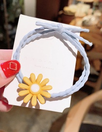 Fashion Blue Yellow Flowers Small Flower Hair Rope