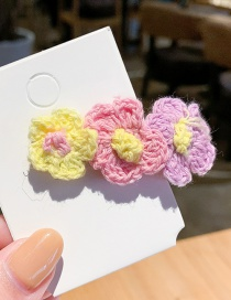 Fashion Fresh Color Flower Wool Hair Clip