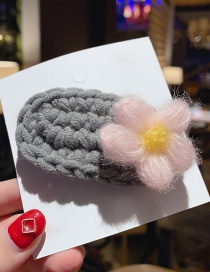 Fashion Gray/color Flower Clip Wool Flower Hair Clip