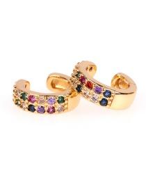 Fashion Gold Zircon Earrings