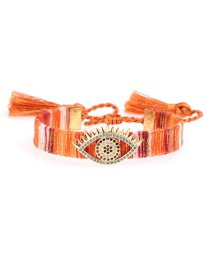Fashion Color Micro-inlaid Zircon Eye Tassel Bracelet