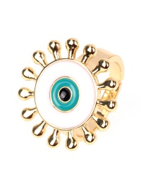 Fashion White Sun Drip Opening Ring