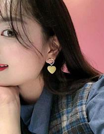 Fashion Yellow Love Earrings