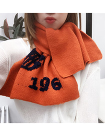 Fashion Brick Red Knitted Small Scarf