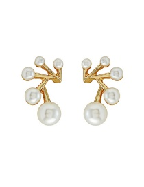 Fashion Gold S925 Silver Pin Pearl Earrings