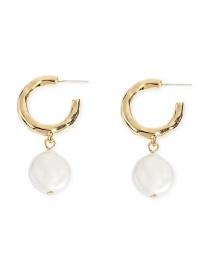 Fashion Gold Geometric Metal Beaded Earrings
