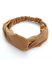 Fashion Khaki Cross Hair Band