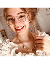 Fashion Gold Alloy Shell Pearl Necklace
