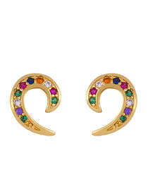 Fashion Err25c Shape Micro-inlaid Zirconia Earrings