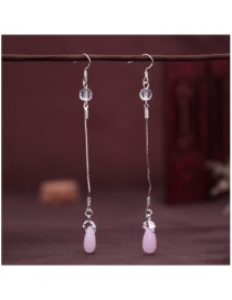 Fashion Pink Tassel Drop Earrings