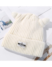 Fashion White Plus Velvet Wool Cap