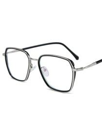 Fashion Black Silver Frame Square Large Frame Flat Mirror