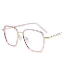 Fashion Pink Purple Frame Gold Legs Square Large Frame Flat Mirror
