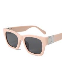 Fashion Beige Frame Black Gray Sunglasses