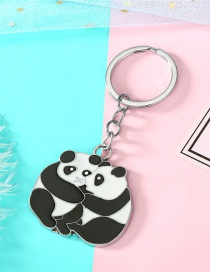 Fashion Black And White Panda Keychain