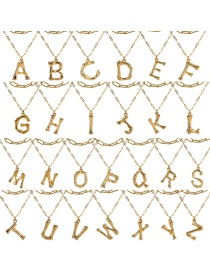 Fashion Gold Letter Necklace