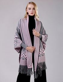 Fashion Powder Ash Cashmere Scarf Cloak Shawl