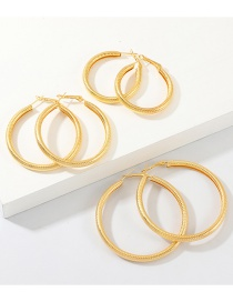 Fashion Gold Circle Size C-shaped Earrings