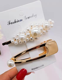 Fashion 1# Gold 2 Piece Set Of Pearl Hair Clips Pearl Winding Hair Clip