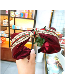 Fashion Red Wine Wide-brimmed Gold Wire Forged Knotted Headband