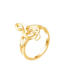 Fashion Gold Note Ring