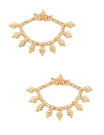 Fashion Gold Crown Shape Fan Stud Earrings
