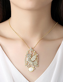 Fashion 18k Gold Zirconium Necklace
