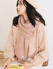 Fashion Pink Knitted Woolen Pineapple Scarf