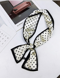 Fashion Small Dot White Double-sided Flat Scarf