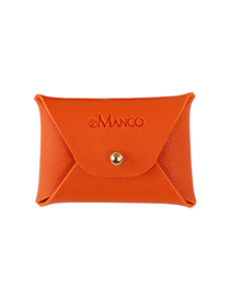 Fashion Orange Leather Letter Coin Purse