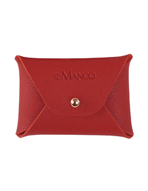 Fashion Red Leather Letter Coin Purse