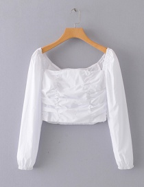 Fashion White One-shoulder Top
