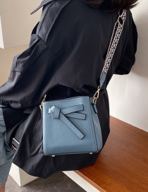 Fashion Blue Bow Shoulder Messenger Bag