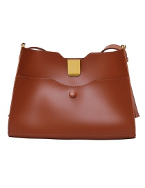 Fashion Brown Pu Suction Button Portable Mother Bag
