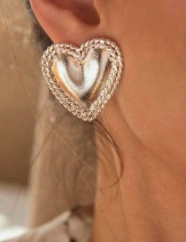 Fashion Silver Gold-plated Love Earrings
