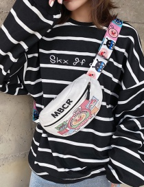 Fashion Pink Cartoon Printed Letter Crossbody Chest Bag