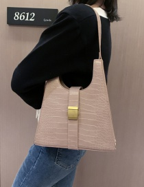 Fashion Creamy-white Crocodile Shoulder Bag