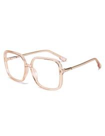 Fashion Transparent Tea Box Square No-number White Screen Glasses