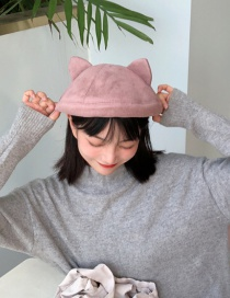 Fashion Lotus Root Starch Wool Cat Ear Beret