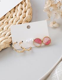 Fashion Gold Round Geometric Earrings Set Of 6