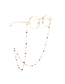 Gold Mixed Color Crystal Chain Glasses Chain